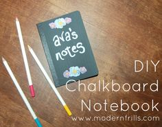 DIY Chalkboard Notebook by Modern Frills