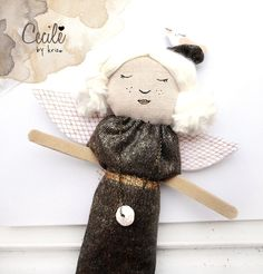 Fabric Stuffed Art Doll textile doll by krize on Etsy