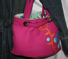 Artistic Magenta Textured Purse with Felt applique by kustomkate, $63.00