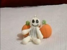 jack skeleton halloween manualidades faciles  cold porcelain pasta flexible
