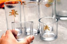 DIY Flash Tattoo glassware. http://blog.swell.com/DIY-Flash-Tattoo-Glassware