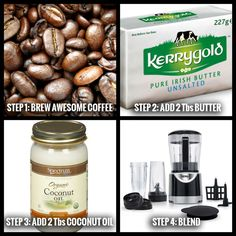 How To Make Bulletproof Coffee.. My new obsession! Yummy!! Instead of using coconut oil, I use MCT oil, since it is the direct source. But if you decide to use coconut oil, make sure it is unrefined and contains the highest MCTs.