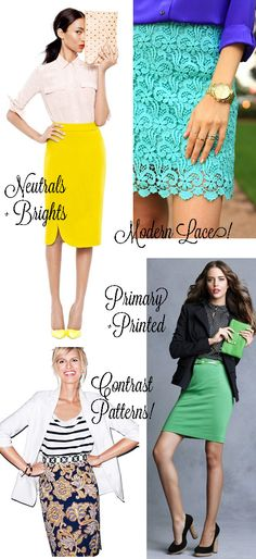 professional pencil skirt outfits | Work Fashion Inspiration How To Wear Pencil Skirts In Summer