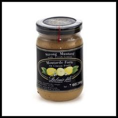 Strong Mustard with Fresh Lemon - France.  Combines the tangy kick of mustard with the aromatic scent of fresh lemon. Sensational flavor! - $6.75 (7 oz)