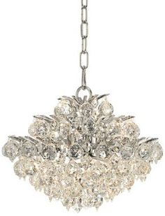 "Vienna Full Spectrum 12"" Wide Chrome and Crystal Chandelier"