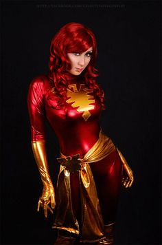 Dark Phoenix, cosplayed by Celeste Tapia