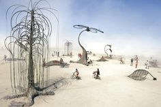 Infinitarium by Big Art (a playground made of scrap for people to interact with art), Burning Man Festival 2010, Black Rock Desert, Nevada, USA. (photo -  Gaby Thijsse)