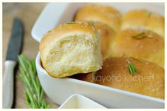 Rosemary and Garlic Butter Rolls