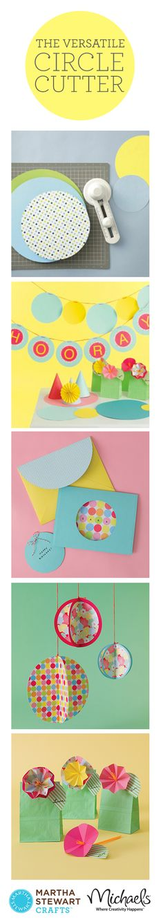 Create your own party decorations with the help of our easy-to-use circle cutters.