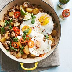 Pump up the protein with this incredible Pork and Hot Pepper Hash recipe! Get more breakfast ideas here: http://www.bhg.com/recipes/breakfast/high-protein-breakfasts/?socsrc=bhgpin081814porkandhotpepperhash&page=1