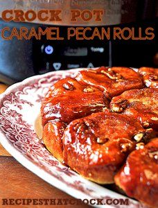 This slow cooker dessert recipe for Slow Cooker Caramel Pecan Rolls is extremely easy to make and so delicious to eat. If you are looking for a recipe that requires very little work on your part, then this dessert is your new best friend.