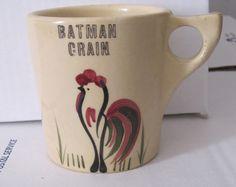 roosters, watt potteri, pottery, batman grain, mugs