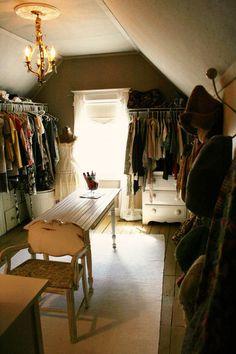 attic turned into walk in closet