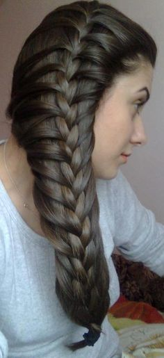 Massive side parted braid hairstyle