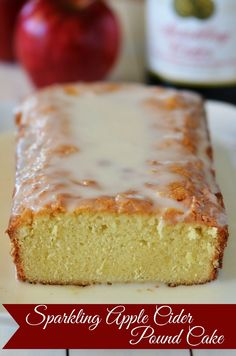 Sparkling Apple Cider Pound Cake | perfect fall baking recipe! | www.thecountrycook.net