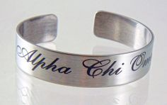 Alpha Chi Omega, ΑΧΩ, Stainless Steel 6 or 7 Inch Braggin' Bracelet NEW