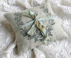 Lavendar Sachet tiny pillow French vintage with by Tesorobella, $14.95