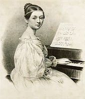 Clara Wieck (Schumann), from an 1835 lithograph