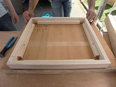 how to make a butcher block table -