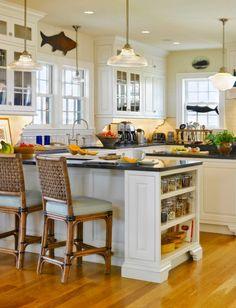 decor, kitchen counter bars, kitchen stool, coastal kitchens, beach hous
