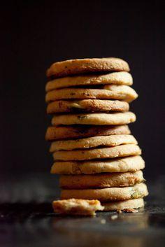 Savory cheddar cookies.