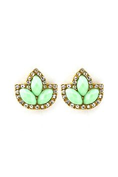 Minty Marquise Custer Earrings