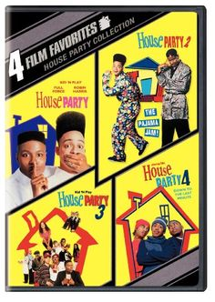 House party: A teenager has to deal with punks, an over-protective father, and best friends who want him to choose between them.   House party 2: Two college students get into trouble when they stage the mother of all pajama parties.   House party 3: Best friends find their friendship tested when one of them plans to get married.   House party 4: While housesitting for his uncle, Jon Jon plans a party to end all parties. DVD 505