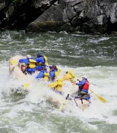 White water from Hell canyon -water rafting