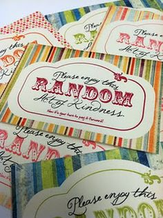 Random Acts of Kindness and free printable