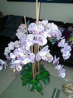 Phalaenopsis orchids centerpiece