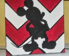 Mickey Mouse Silhouette painting on canvas!