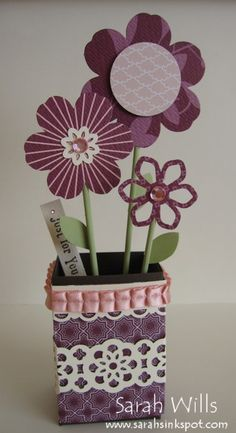minichocolateflowervase  Stampin' Up!