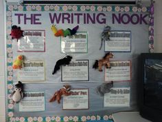 Love this idea! The Writing Nook uses beanie baby characters to introduce writing strategies, such as Fixin' Fox and Wow Word Worm.