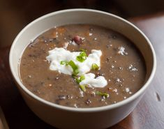 Black Bean and Ham Soup- made this tonight - FAB.