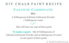 Try this craft, paint diy, chalk paint furniture, diy chalk, calcium carbonate chalk paint, paints, chalk paint recipe calcium, chalk painting, chalk paint recipes