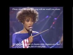 Whitney Houston (LIVE) Battle Hymn of the Republic w/French & English ly...