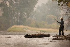 Fly-fishing is a very popular activity for guests at the Triple Creek Ranch and experienced guides are always ready to provide an unforgettable experience. Photograph by Robert Wright