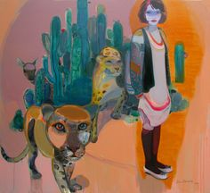 """Saatchi Online Artist: Chenyang Liu; Acrylic, 2011, Painting """"come with you"""" #art"""