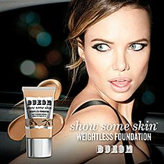 Buxom - Show Some Skin Weightless Foundation in Meet Me Latte - neutral beige for medium skin tones  #sephora