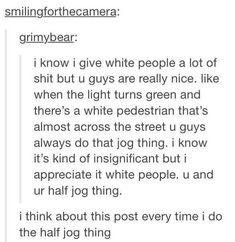 Half jog thing