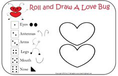 Valentine's Party Ideas - Roll & Draw a Love Bug