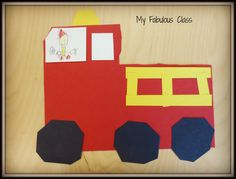 Check out this EASY firetruck craft. Perfect for fire safety in Kindergarten.