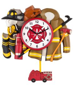 Firefighter Pendulum Wall Clock | Shared by LION