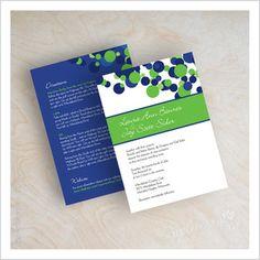 Image of Polka Dot Wedding Invitations (royal blue and lime green shown)