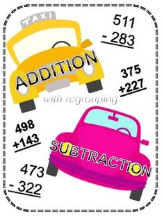 Center for Addition and Subtraction Regrouping into 3 Digits!