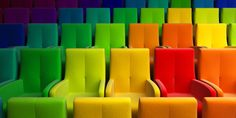 #chairs #cinema #colorful