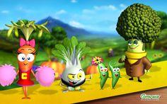 Growums® Stir-Fry Garden contains Brok Lee®, Bok Choy®, Carin Carrot®, Sugar Snap® & Sweet Pea®. They're wok stars! #growums, #gardening, #garden, #kids, #wok