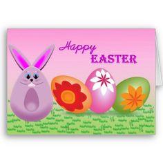 #cards #easter #zazzle #elenaindolfi   Pretty Bunny and Easter Eggs by elenaind