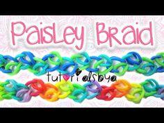 NEW Paisley Braid Rainbow Loom / Monster Tail Bracelet Tutorial | How To - YouTube