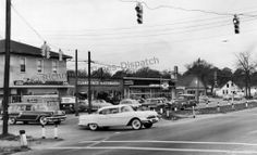 Old picture from 1966 of intersection @ Lakeside & Dumbarton. My old stomping grounds. My how things have changed!